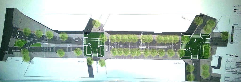 Planung Begegnungszone Maaßenstraße