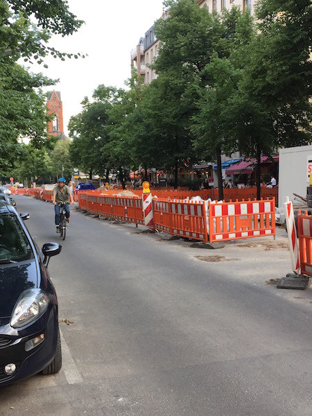 Baustelle Begegnungszone Maaßenstraße